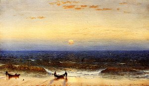 Sanford Robinson Gifford - Sunrise  Long Branch  New Jersey