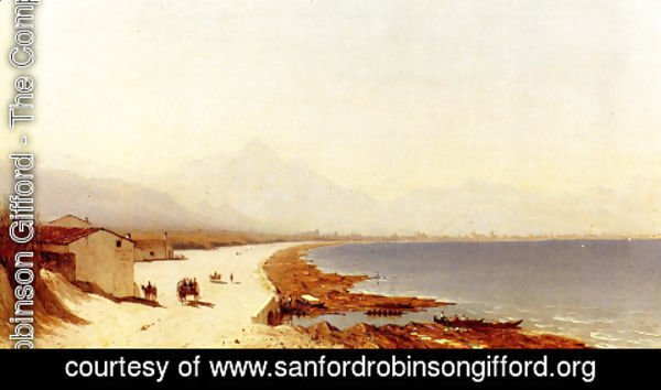 Sanford Robinson Gifford - The Road By The Sea  Palermo  Italy